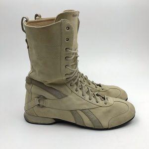 Vintage Reebok Boxing Boots Shoes Suede Tan sz 12